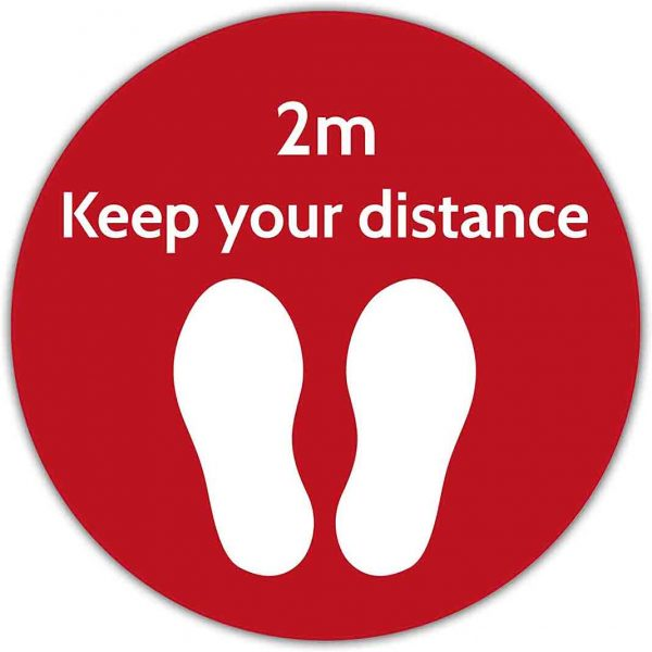 2m distance sign