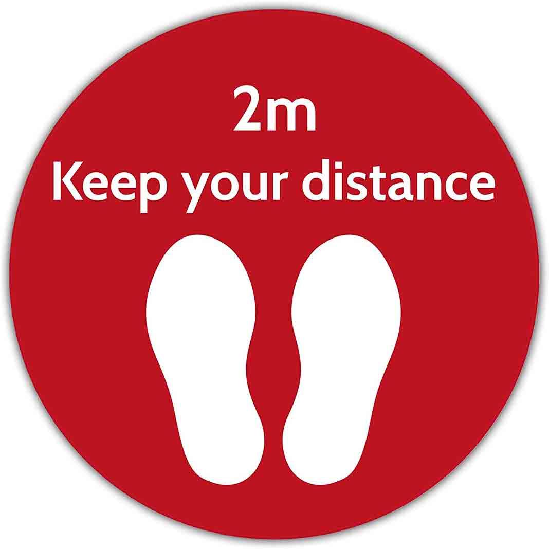 2m distance sign