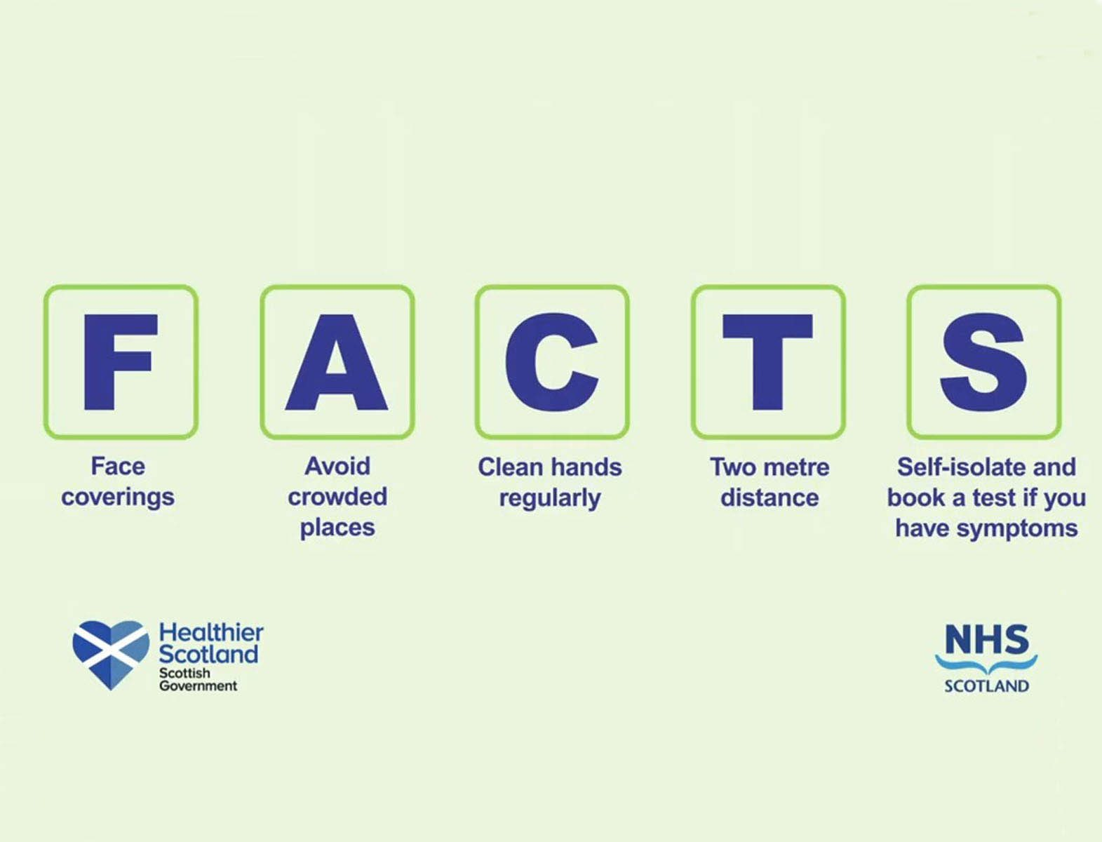 Scottish Government FACTS sign