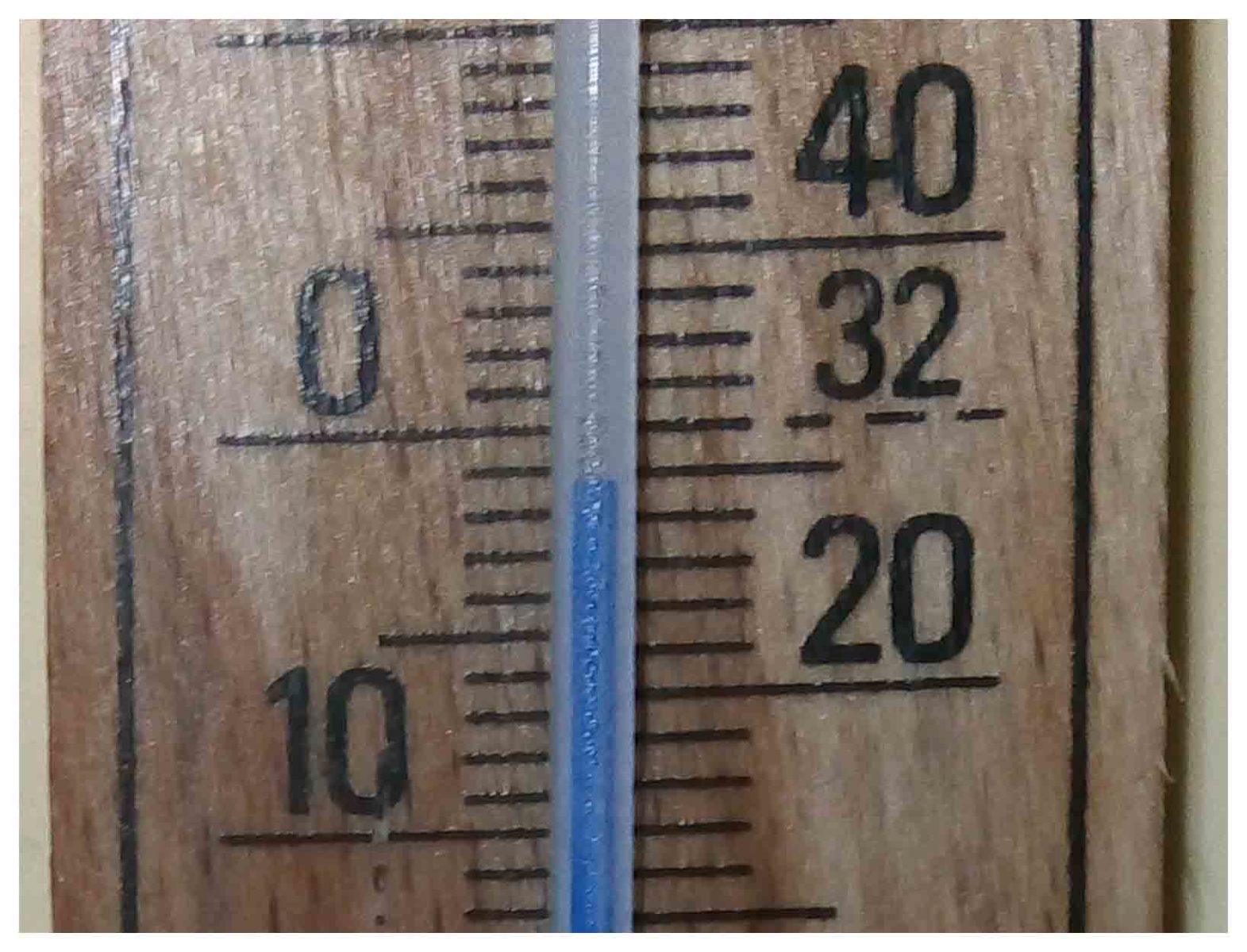Thermometer image showing -2°C